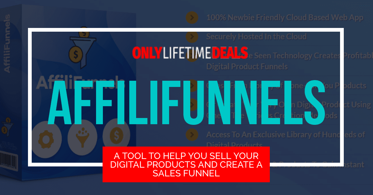 Only Lifetime Deal - A TOOL TO HELP YOU SELL YOUR DIGITAL PRODUCTS AND CREATE A SALES FUNNEL header