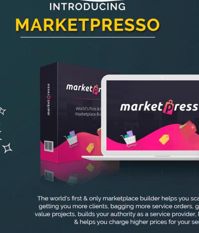 Only Lifetime Deal Lifetime Deal to MarketPresso header